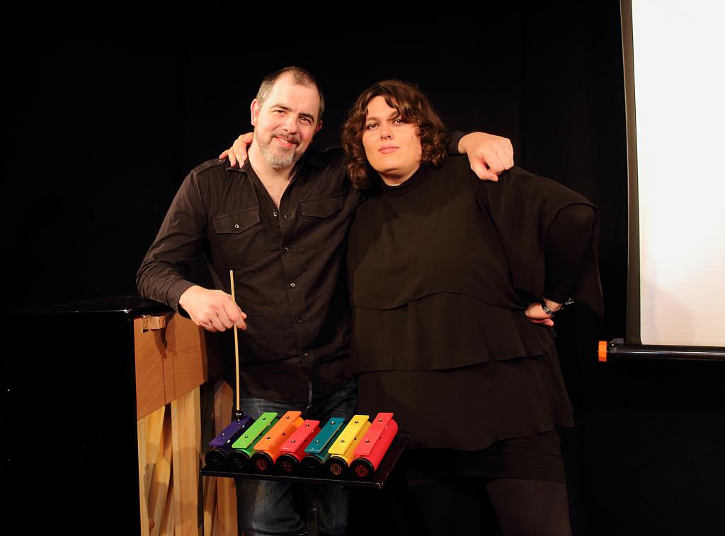 Patti Basler und Philippe Kuhn nach der Vorstellung im Härdöpfuchäuer